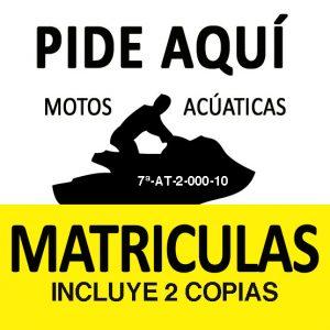 Matrícula Moto acuatica