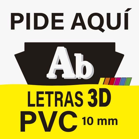 LETRAS 3D PVC