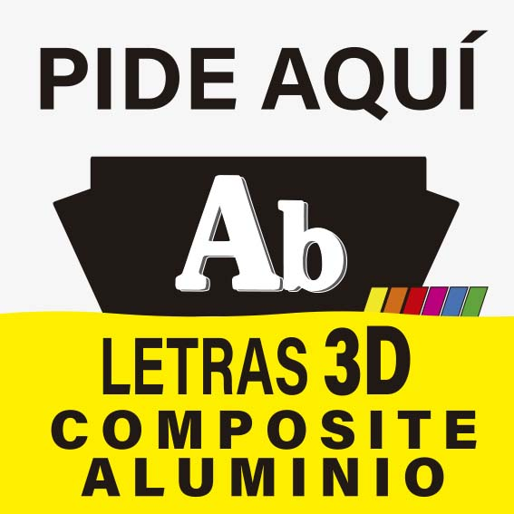 LETRAS 3D COMPOSITE ALUMINIO