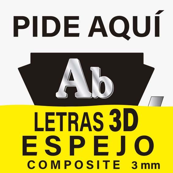 LETRAS 3D ESPEJO COMPOSITE