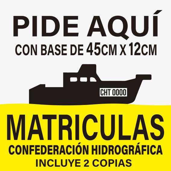 MATRICULAS CONFEDERACIÓN HIDROGRÁFICA